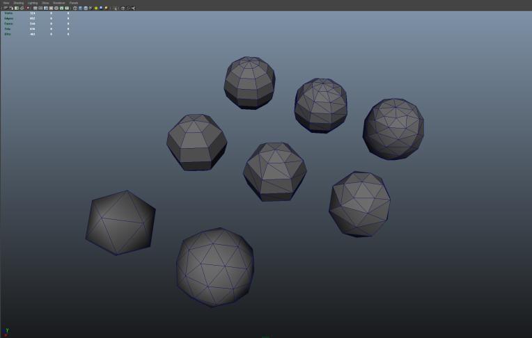 Spheres versus Icosahedrons