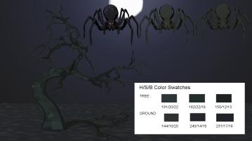 Spider Night Swatch